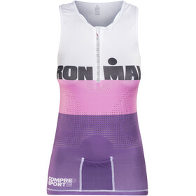 Compressport TR3 Triathlon Tank Top Women Ironman Edition Stripes Purple